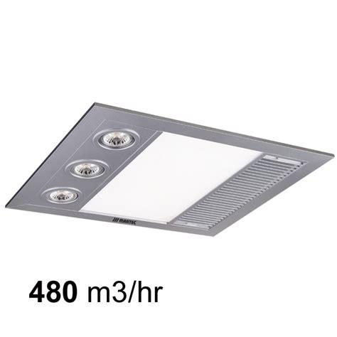 martec mini linear 3 in 1 1000w heat led light white