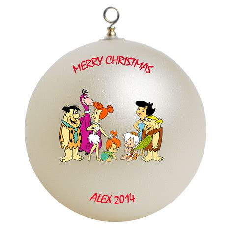 personalized the flintstones christmas ornament gift