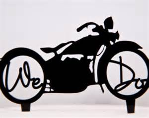 motorcycle wedding cake toppers bicycle cake topper etsy
