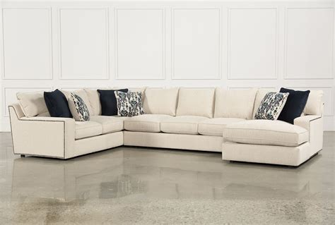 raf chaise sectional rennell 3 sectional w raf chaise living spaces