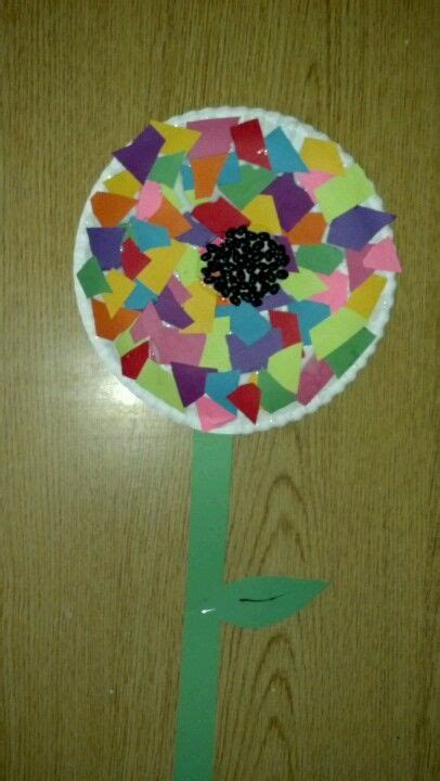 preschool craft flower paper plate construction 536 | ca0ca02535fc95a0bcd479210d2ba754