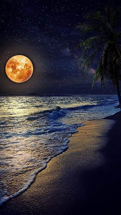 Phone Moon Sea Zedge Wallpapers Night Nature