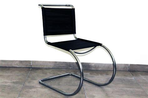 chaise mies der rohe chaise en acier tubulaire par ludwig mies der rohe