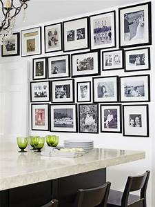 kitchen photo wall transitional kitchen hgtv With kitchen colors with white cabinets with family tree photo collage wall art