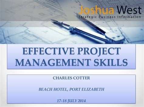 effective project management skills