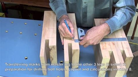 build  bed leg joinery  hardware marking