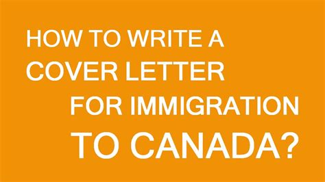draft  cover letter  immigration  canada youtube