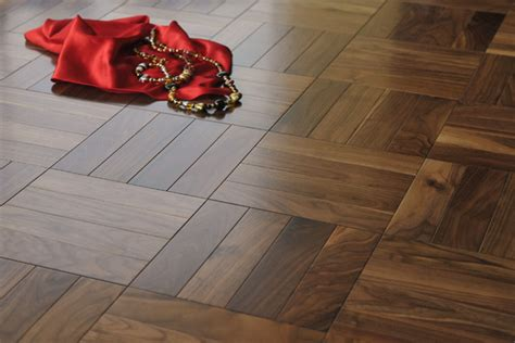 solid black walnut parquet flooring