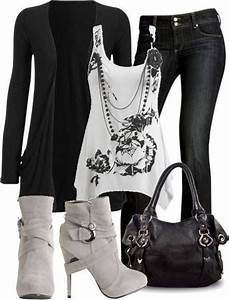 black and white casual outfit Discover and share your ...