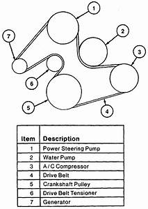 2000 Ford Taurus 30 V6 Serpentine Belt Diagram