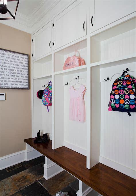 Beadboard Mudroom Lockers  Transitional  Laundry Room