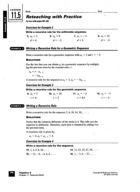 arithmetic sequence worksheet algebra 1 worksheets for all