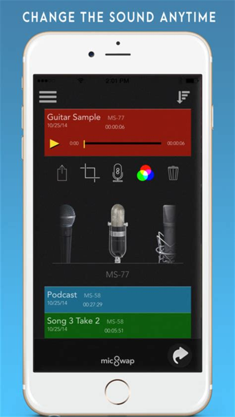 iphone recording app micswap microphone emulator recorder on the app store Iphon