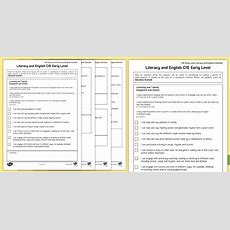 * New * Cfe Early Level Literacy And English Checklist