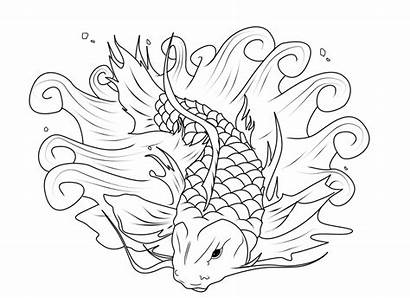 Koi Fish Coloring Pages Fishing Adults