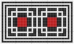Geometric Roman Mosaic pattern