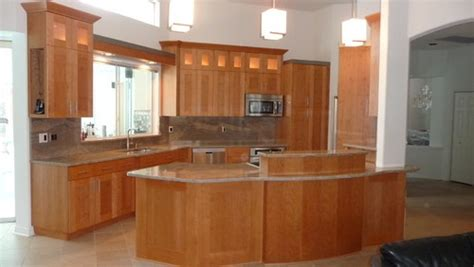 cherry cabinets with gray countertops really like this combo natural cherry cabinets with gray