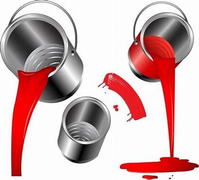 Pouring Paint Vector Bucket Clipart Pour Adobe