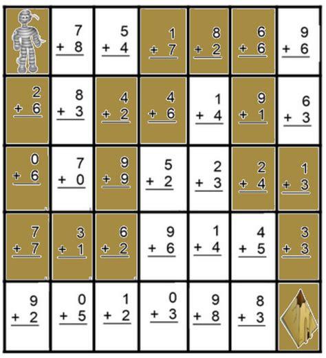 math mazeaddition worksheets