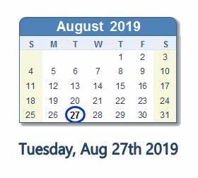 August 27, 2019 Date in History: News, Top Tweets, Social ...