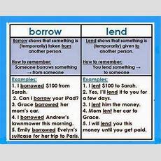 Uses Of 'borrow' And 'lend