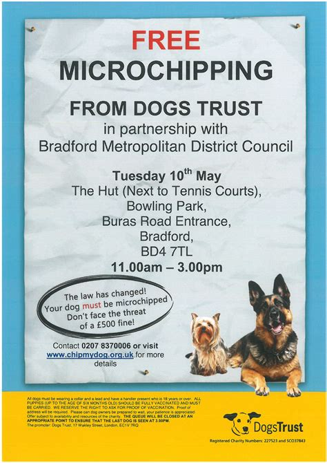 FREE Dog Chipping - Bowling Park on Tuesday 10th May 2016 ...