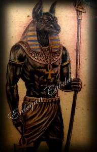 egyptian god tattoos all black | Anubis Egyptian God ...