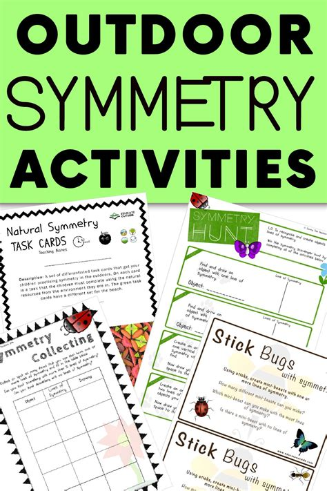 outdoor symmetry activities  images symmetry