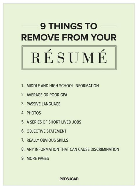 Things To Put On A Resume For A by 9 Things To Remove From Your R 233 Sum 233 Right Now Resume