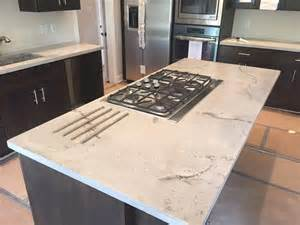 grey kitchen island white travertine concrete counter top kitchen island