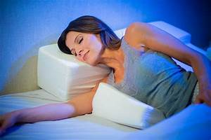 The shoulder side sleeper pillow is designed to reduce the for Best sleeping position for shoulder pain