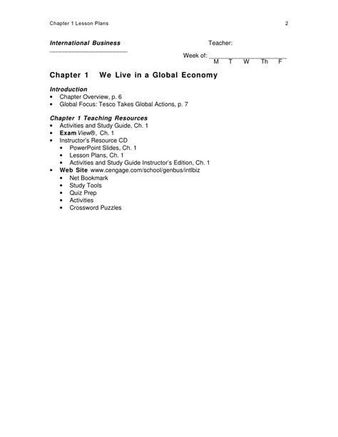 Chapter 01 Lesson Plans
