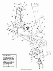 Troy Bilt 13aj609g766 Bronco  2005  Parts Diagram For Pto