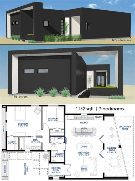 small front courtyard house plan custom modern house