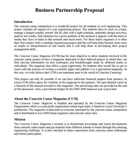 sample partnership proposals   google docs