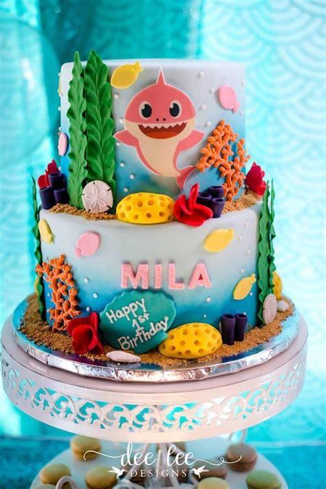 baby shark birthday party shark birthday cakes sea