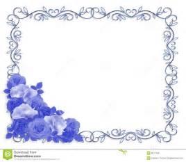 wedding invitations blanco azul de la frontera ornamental de las rosas fotos