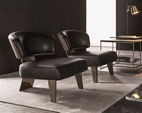 Creed Wood Armchair By Minotti