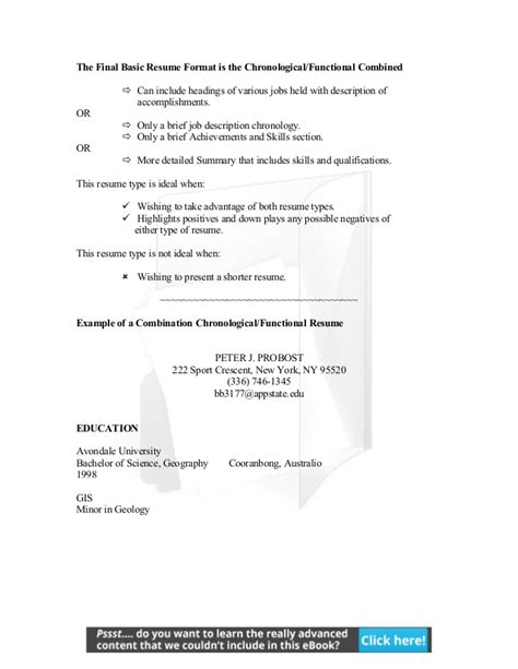 Chronological Resume Advantages by Resume Andcoverletters Y9fmln4rt6