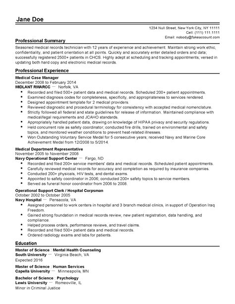 Professional Medical Records Technician Templates To. Retail Manager Resume Examples. Caregiver Resume Objective. How To Make A Resume In Open Office. Customer Service Duties And Responsibilities For Resume. Good Summary For A Resume. Sample Warehouse Manager Resume. Resume Objective Line. Sql Dba Resume