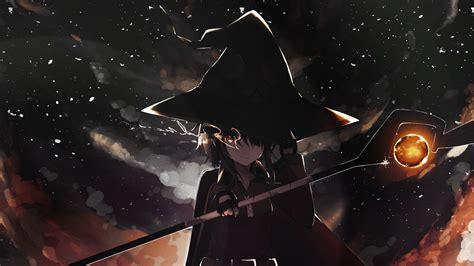 Nightblue3 Animated Wallpaper - witch hair megumin anime kono subarashii