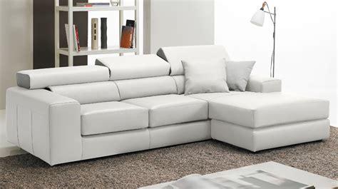 canapé blanc en cuir canapé d 39 angle réversible en cuir blanc haut de gamme
