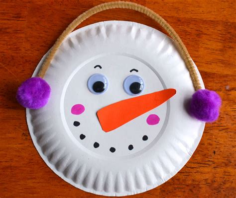 easy paper plate snowman ideas   kids guide