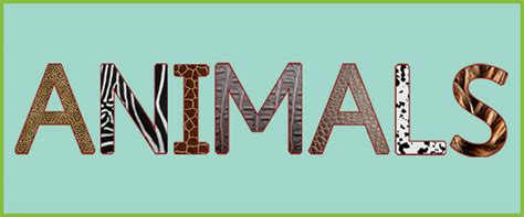 uppercase textured animal letters  early years
