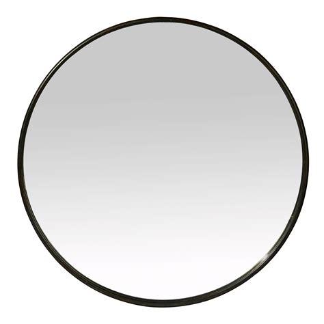 tableau deco cuisine miroir rond mural en fer noir patiné boudoir