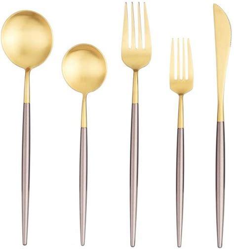 silverware flatware stainless steel dinnerware piece tableware cutlery fork spoon knife include matte spacemazing