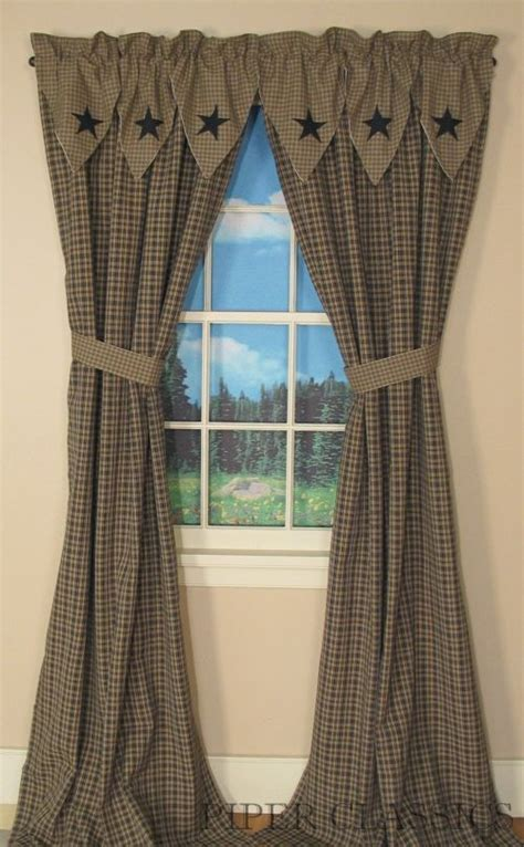 25 best ideas about primitive curtains on