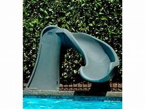 Jeu De Piscine : jeux piscine toboggan cyclone gris granite 33737 33738 ~ Melissatoandfro.com Idées de Décoration