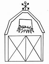Barn Coloring Outline Draw Pages Farm Drawing Easy Preschool Barns Animal Step Simple Clipartix Printable Cartoon Clipart Kindergarten Inside Concept sketch template