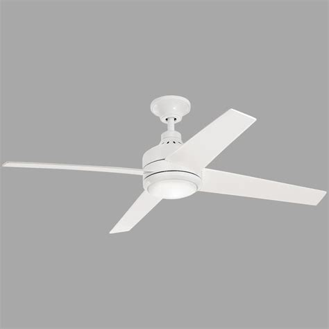 merwry 52 in led indoor white ceiling fan home decorators collection mercer 52 in led indoor white